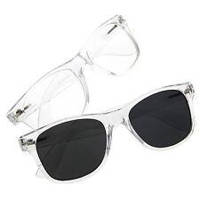 grinderPUNCH Crystal Clear Frame Transparent Glasses Costume