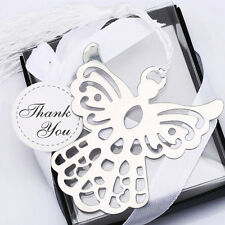 Stainless Steel Silver Guardian ANGEL Bookmark Tassel Page Marker Ribbon BoxRSPM