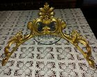 """Gold Gilt Resin Cherub/Angel Pediment Wall Hanging 22"""" Made in Italy"""