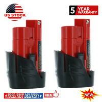 2X For Milwaukee 48-11-2420 M12 LITHIUM Compact Battery 48-11-2402 48-11-2401