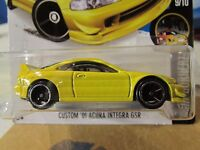 Hot Wheels Custom '01 Acura Integra GSR Night Burnerz Yellow