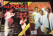 The Police/Sting Creem Original Vintage Magazines Nov/Dec 1983