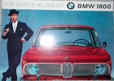 Prospekt BMW Neue Klasse 1800 09/63 - Original!