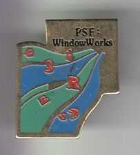 RARE PINS PIN'S .. INFORMATIQUE PC COMPUTER MICROSOFT WINDOWS PSF WORKS ~DL