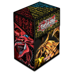 YUGIOH DECK BOX: Egyptian God Cards Slifer, Ra, Obelisk | Neu & OVP Konami Case