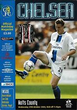 Programma CALCIO > Chelsea V Notts County OTT 2003 Carling Cup