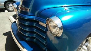 CHEVROLET HEADLIGHT VISOR  STAINLESS VISOR CADDY STYLE  TRUCKS 1947 TO 1953