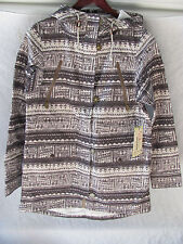 Burton Soteil Snow Board Ski Jacket Dry Ride- Aztek Print Brown -Size Large- NWT
