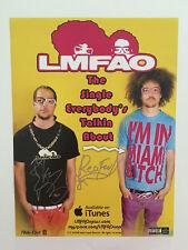 "LMFAO Autograph Signed Poster I'm In Miami Bit*h 11"" x 17"""