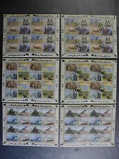UNO kpl. Kleinbogensatz 6 x Gefährdete Arten 1993 New York, Wien, Genf **/o