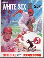 1971 (Sep.4) Baseball program Kansas City Royals @ Chicago White Sox, scored ~VG