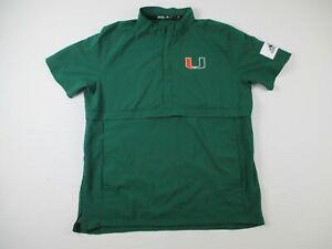 Miami Hurricanes adidas Pullover Men's Green Used