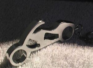 Schlüsselanhänger - SILBERNES MOTORRAD - Gesamtlänge ca. 12 cm