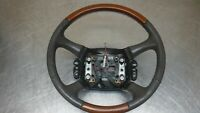 Chevrolet GMC Tahoe Suburban Yukon Steering Wheel 98-02  Leather Wood