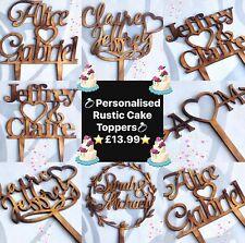 ✨ RUSTICO personalizzato wedding cake topper ✨