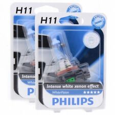 2x H11 Philips White Vision bis zu 3600K Xenon Effekt 12362WHVB Blister DUO Set