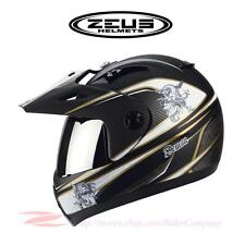 ZEUS ZS-2100B Motorcycle Dual Sport Helmet Limited DOT Safety Approved