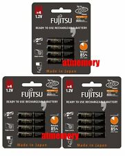 12pcs Fujitsu 900mAh AAA Precharge NiMH Rechargeable Battery Sanyo Made in JAPAN