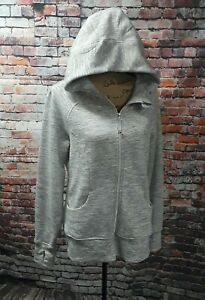 90 Degree By Reflex Zipper Front Hoodie Jacket Heather Gray Thumb holes $98 XL