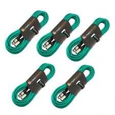 5 x 10m Macho a Cable Hembra Mic XLR / Micrófono Balanceado Cable / Verde