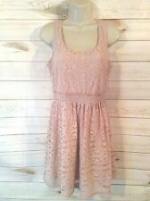 Women's AUW Coral Outter Laced Sundress Size Medium