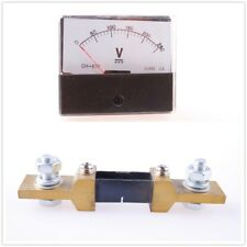 DC 0-250A Analog Amp DH670 Panel Meter Current Ammeter With Shunt
