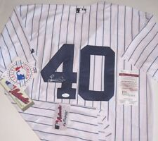 Luis Severino Signed NY Yankees Home Pinstripe Jersey- JSA Witnessed COA