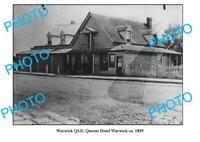 OLD 8x6 PHOTO WARWICK QUEENSLAND QUEENS HOTEL c1895