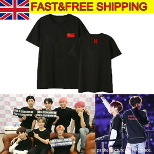 UK Kpop Bangtan Boys Tshirt Love Yourself Answer T-shirt JIN JIMIN V Tee Tops