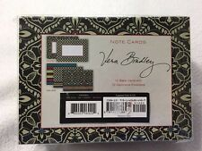 NEW Vera Bradley Barcelona Boxed 12 Note Card Envelope Set Stationary