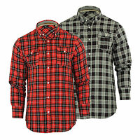 Mens Check Shirt Brave Soul Cone Cotton Long Sleeve Casual Top