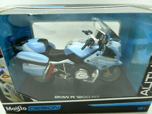 MAISTO 1:18 AUTHORITY POLICE MOTORCYCLES BMW R 1200 RT  DIECAST MODEL 32306