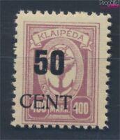 Memelgebiet 199 postfrisch 1923 Aushilfsausgabe (8731665