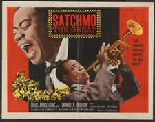 SATCHMO THE GREAT - LOUIS ARMSTRONG, 1957 HALF SHEET