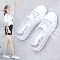 Womens Flat Slip On Casual Sports Shoes Round Toe Breathable Sneakers Loafers Sz