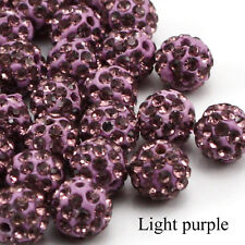 10mm Clay Crystal Disco Ball Beads Make Shambala Bracelects 23 color choices