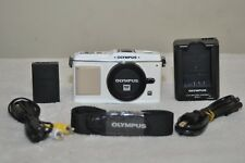 Olympus PEN E-P1 12.3MP Digital Camera (White) Body Only w/ Accessories!!
