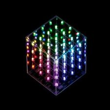 Ambient Lighting & Amazing Lightshow 64 RGB Color 34 LED 4x4x4 Cube by Hypnocube