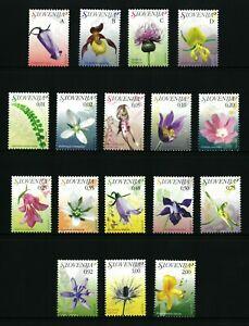 SLOVENIA  2007 - Orchids - Flowers - Plants - Nature   Good set stamps   MNH**