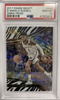 2017-18 Panini Select D'Angelo Russell Courtside Zebra Prizm PSA 10 Pop 2
