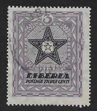 Liberia 1923 Local Motifs used 3c (DX4)