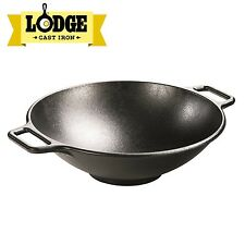 Lodge Seasoned 14 inch Cast Iron Wok, P14W3 New
