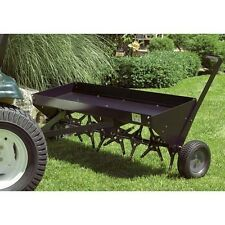 "Commercial 48"" Aerator - Plug Type - Tow Behind - Lawn - 32 Heat Treated Spoons"