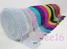 """1.5"""" Diamond Rhinestone Crystal Mesh Ribbon Wrap 1 yd 5 yd 10 yard decoration"""