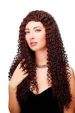Perruque Femmes Long Rouge Brun Marron Kinks Boucles Karibisch Caraïbes Wla-1092