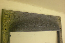 Vintage Cast Iron Fireplace Surround Ornate Victorian House Floral Frame Old