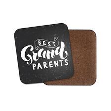 Best Grandparents Coaster - Awesome Cute Granddad Grandma Lovely Art Gift #19222