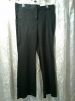 NEW Express Editor Stretch Black Pinstripe Pants Womens 12 NWT DadCloset*