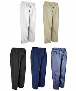 Ladies Womens Summer 3/4 Cropped Trousers With Side Embroidery Plus Sizes KK10