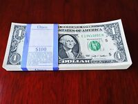 25 Consecutive serial $1 USA MONEY NEW BILLS -ONE DOLLAR BANK NOTES -CURRENCY.